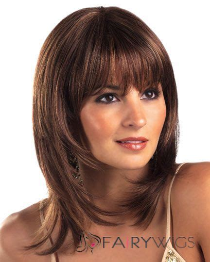 inexpensive wigs for women with round faces dynamic feeling from short straight brown 12 inch human