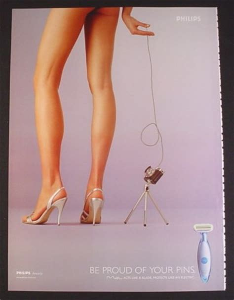 venus razor ads magazine ad for philips moi razor model taking picture of