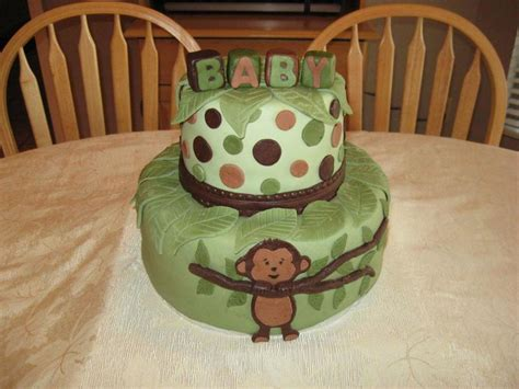 Mod Monkey Baby Shower by Mod Pod Pop Monkey Baby Shower Cake Cakecentral