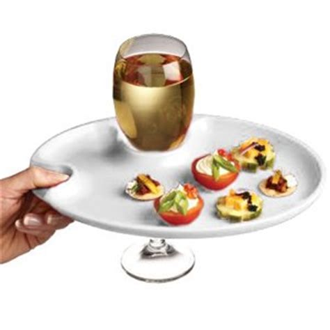 wine and dine party plate wine glass holder party plate