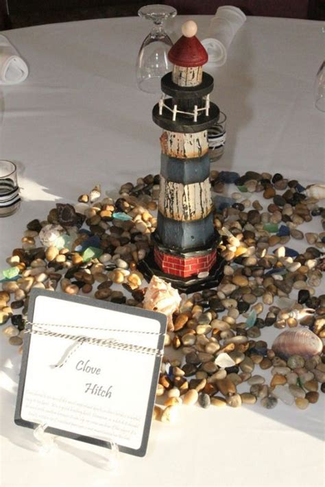 nautical lighthouse centerpieces weddingbee photo gallery