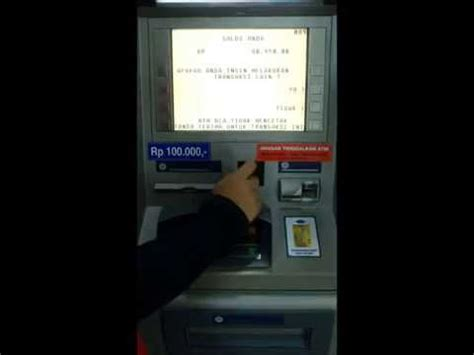 bca atm tutorial cek saldo di atm bca youtube
