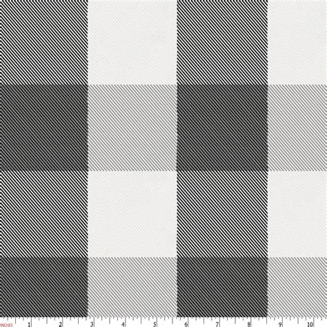 onyx and cloud gray buffalo check fabric by the yard