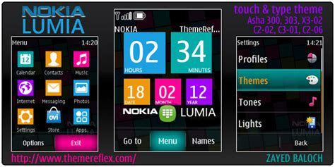 nokia c3 00 lumia themes nokia lumia theme for asha 303 300 x3 02 and touch