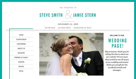 Wedding Announcements Websites by Your Day Your Way Create A Wedding Website Part 1