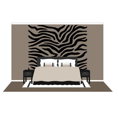zebra stripes large wall mural elephants on the wall
