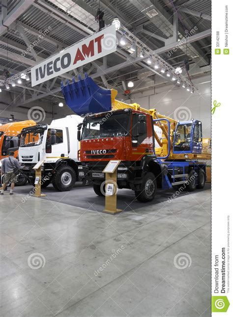 Machine Truck Construction Limited international exhibition construction equipment and technologies editorial stock photo image