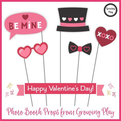 valentines day photo props s day photo booth props growing play
