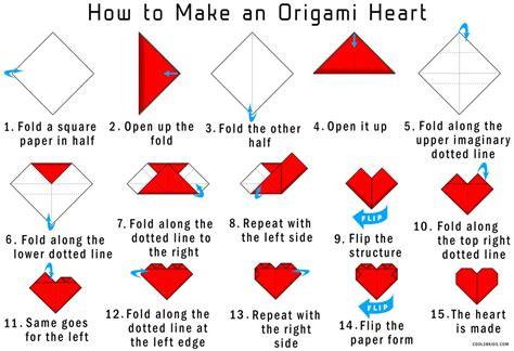 How To Fold Paper Hearts Step By Step - how to make an origami step by step easy