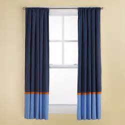 Navy Blue And Orange Curtains Curtains Navy And Light Blue Curtains With Orange Trim The Land Of Nod