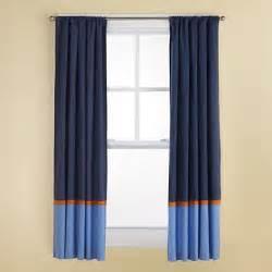 Blue Striped Curtain Panels » Home Design 2017