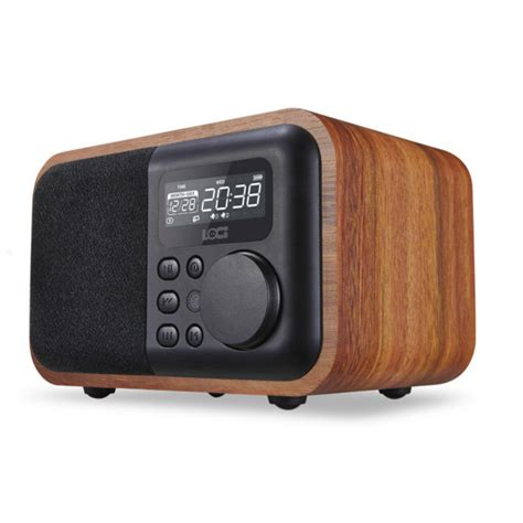 Speaker Bluetooth Ibox ibox d90 wooden subwoofer alarm clock microphone bluetooth speaker support u disk tf card aux