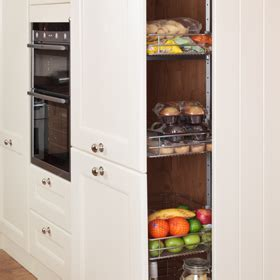Tall Kitchen Larder Units & Storage Cabinets   Solid Wood