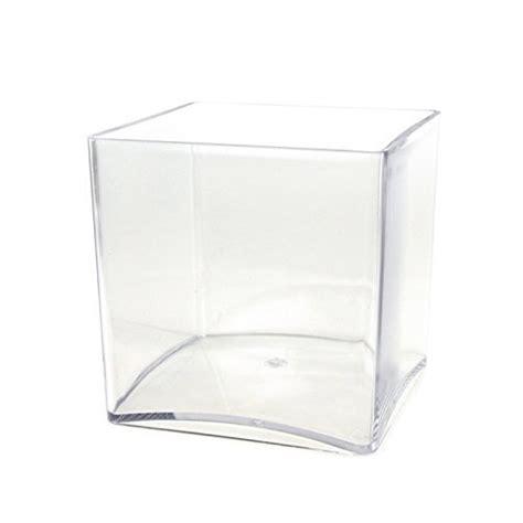 royal imports 4 quot x4 quot clear plastic square cube acrylic vase