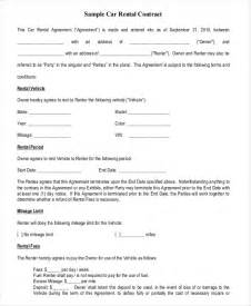 Hire Agreement Template by 13 Car Rental Agreement Templates Free Sle Exle