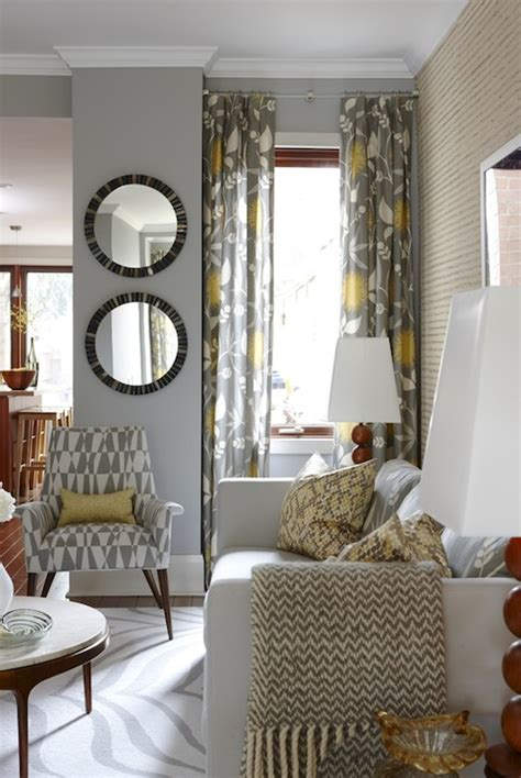 curtains for yellow living room yellow and gray curtains contemporary living room para paints courtyard richardson