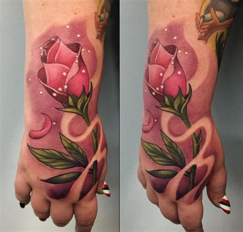 rose finger tattoo designs pink from and the beast best