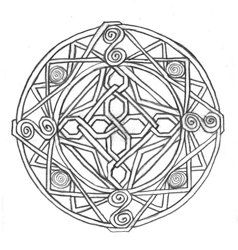 celtic knot coloring pages to download and print for free