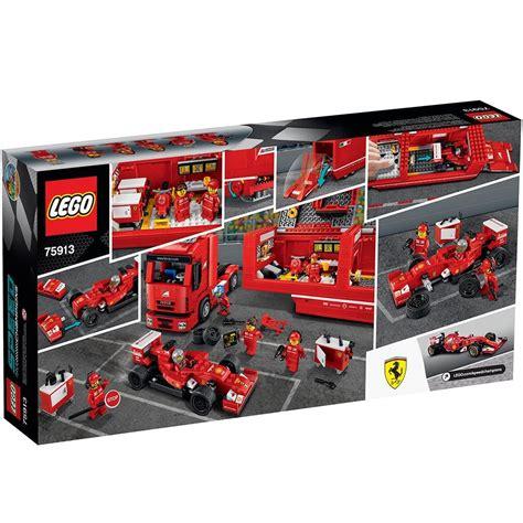 Lego Ferrari by Lego 75913 F14t Et Camion Scuderia Ferrari Prix Briqueo