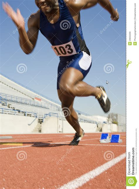 When Can I Start Running After Section by Running From Starting Block Stock Photo Image 29655200