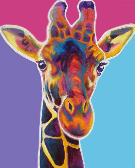 Home Decor Metal Wall Art by Giraffe Marius Painting By Alicia Vannoy Call
