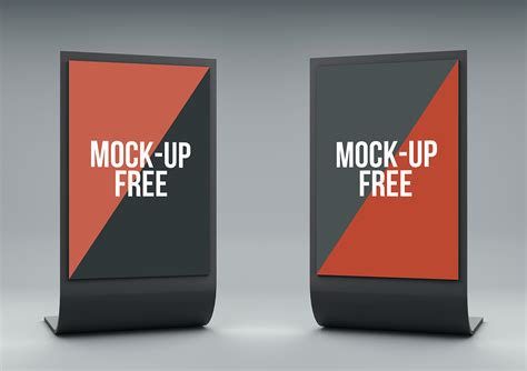 Free Up by Stand Display Mock Up Free On Behance