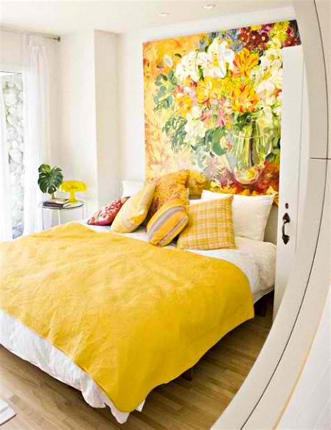 22 Beautiful Yellow Themed Small Bedroom Designs Yellow Bedrooms Images