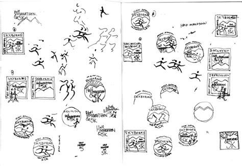graphic design rough layout marathon logo 5th color