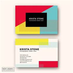 business cards cards business card template designs pop geometric donna