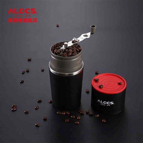 Alocs Cw K17 Outdoor Home Travel Manual Stainless Coffee Grinder Mill alocs outdoor tableware portable coffee maker 4 in 1 stainless steel cing manual easy coffee