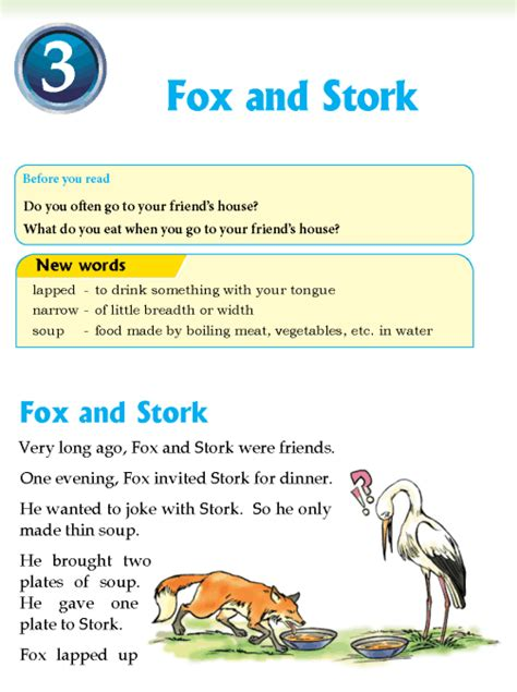 wb themes literature level 3 literature grade 3 fables and folktales fox and stork