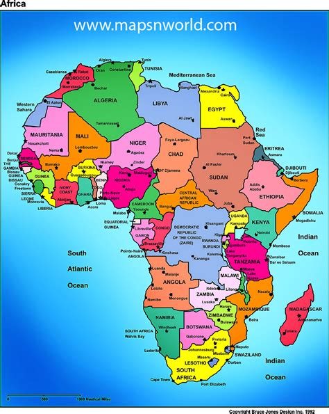 countries  africa map