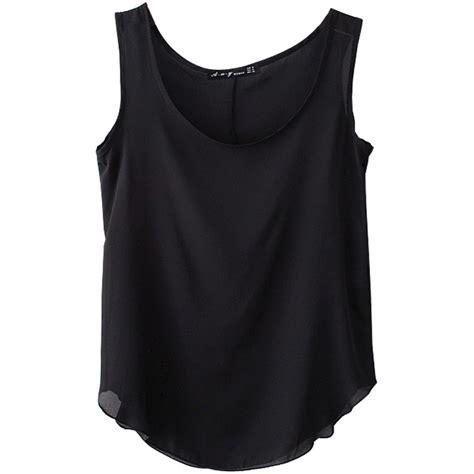 s plain solid color chiffon vest inner t
