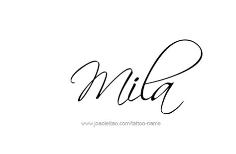 mila name tattoo designs