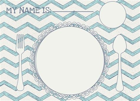 Printable Place Mats by Printable Placemat Place Setting