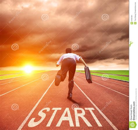 Race On businessman running for race on the track stock image image 51091361