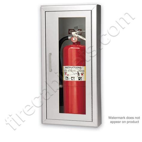 Larsen Extinguisher Cabinets 2409 6r by Larsen S Aluminum Semi Recessed 2 1 2 Extinguisher