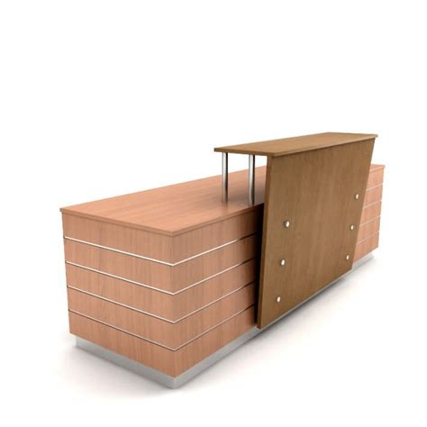Wooden Reception Desk Wooden Table Reception Desk 02 Am89 3d Model Cgtrader