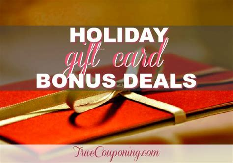 Holiday Gift Card Bonus 2017 - holiday gift card bonus deals 2017