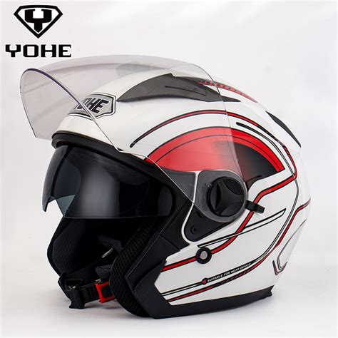 Abs Half Shield Helmet Hitam helmet top abs dual shield helmet