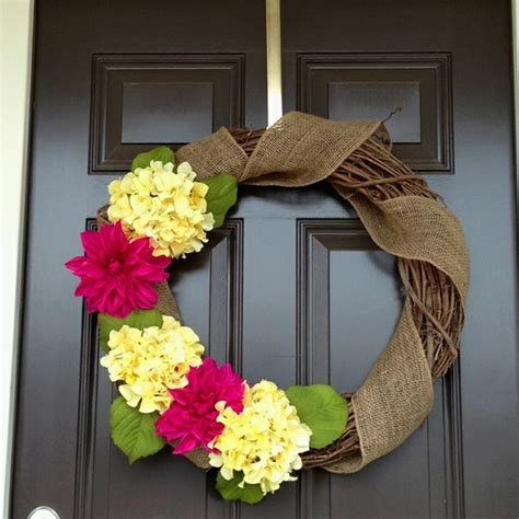 how to make a spring wreath diy spring wreath ideas 2015