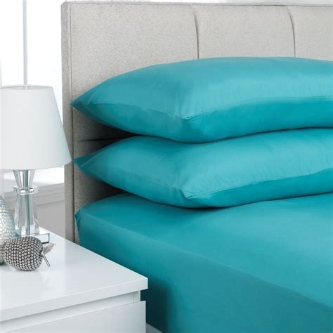 teal bed sheets fusion fitted sheet single bed teal buy online at qd stores