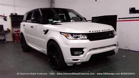 white wrapped range rover 2014 range rover sport wrapped in satin pearl white by dbx