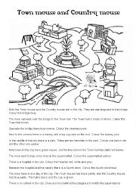 town mouse coloring page english exercises country mouse and city mouse