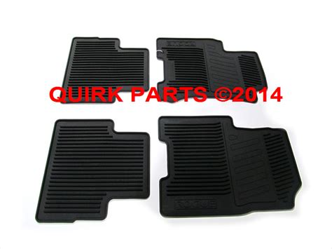 Nissan Rogue Rubber Floor Mats by 2008 2013 Nissan Rogue All Weather Front Rear Rubber Floor