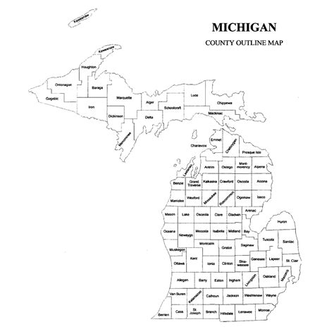 mi county map michigan county map jigsaw genealogy