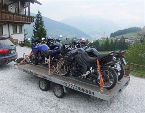 Motorrad Reisen Und Transporte by Trailer4bikes Der Verleih Motorradanh 228 Ngern