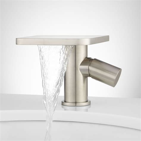 single hole waterfall bathroom faucet knox single hole waterfall bathroom faucet with pop up