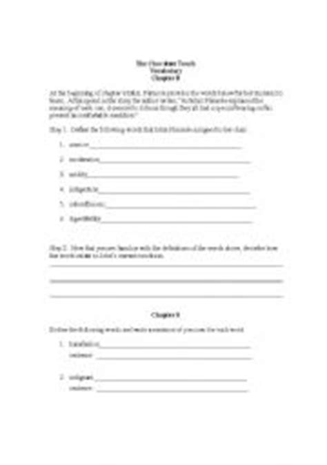 chocolate touch worksheets skene catling hairstyles