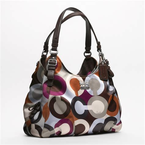 couch purses coach madison graphic op art maggie shoulder bag all